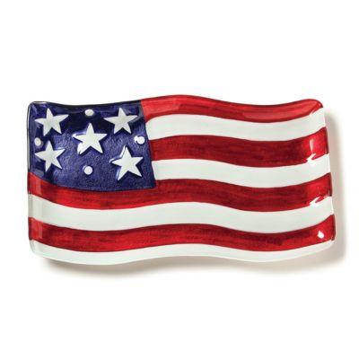 Patriotic American Flag Platter