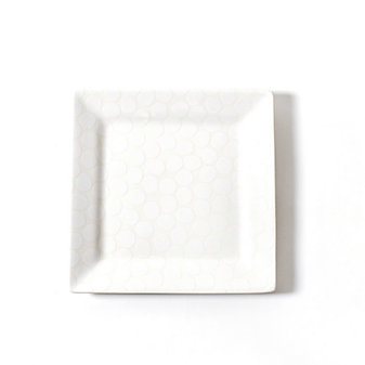 coton colors white pebble square platter