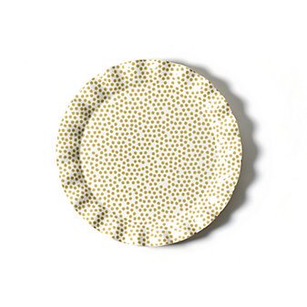 coton colors cobble small dot ruffle round platter
