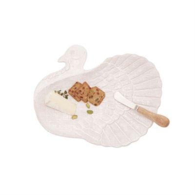 mud pie terracotta turkey platter set