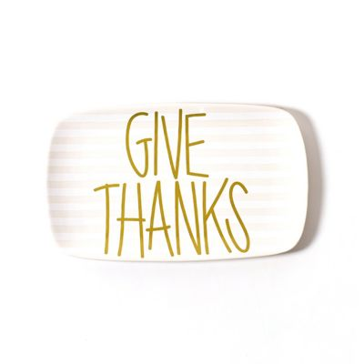 "coton colors give thanks 14"" rectangular platter"