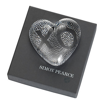 Simon Pearce Heart Paperweight
