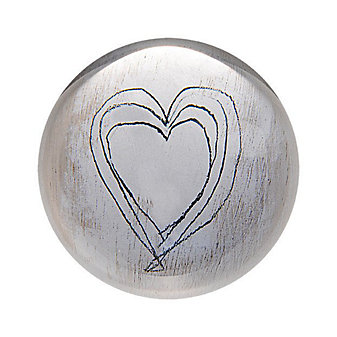 Sugarboo Designs White Heart Paperweight