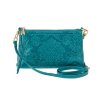 Hobo_Cadence_Damask_Emboss_Teal_Green_Convertible_Crossbody