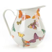 MacKenzie-Childs_Butterfly_Garden_White_Pitcher