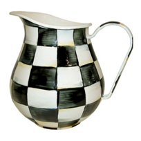 MacKenzie-Childs_Courtly_Check_Enamel_Pitcher