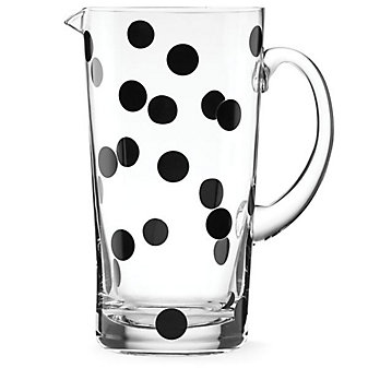 Kate Spade All In Good Taste Glass Deco Dot Pitcher
