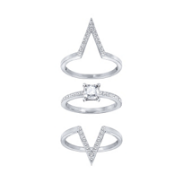 Swarovski_Rhodium-Plated_Funk_Trio_Ring_Set