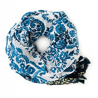 Spartina 449 Blue Paisley Scarf