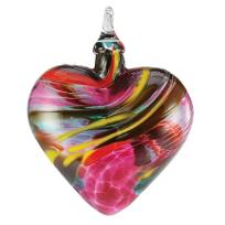 Glass_Magenta_Lace_Classic_Heart_Ornament