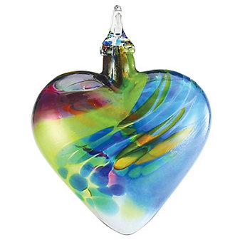 Glass Chameleon Classic Heart Ornament