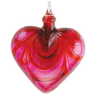 Glass Valentine Heart Classic Ornament