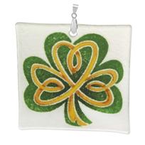 "Peggy_Karr_Square_Shamrock_Ornament,_3"""
