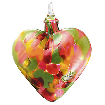 Glass Tulip Mosaic Chip Classic Heart Ornament