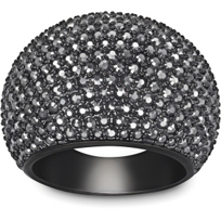 Swarovski_Stone_Jet_Hematite_Ring,_Medium