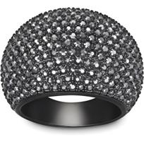 Swarovski_Stone_Jet_Hematite_Ring,_Medium