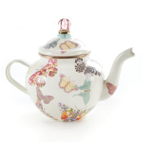 MacKenzie-Childs_Butterfly_Garden_White_4_Cup_Teapot