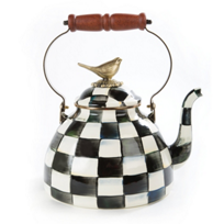 Mackenzie-Childs_Courtly_Check_Enamel_3_Quart_Tea_Kettle_with_Bird
