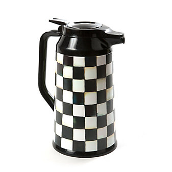 Mackenzie-Childs Courtly Check Coffee Carafe