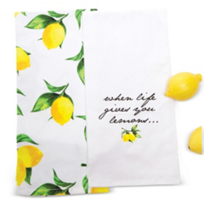 8_Oak_Lane_Lemon_Kitchen_Towels,_2_Piece_Set