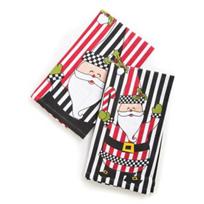 Mackenzie-Childs_Jolly_Santa_Towels,_Set_of_2