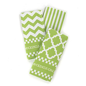MacKenzie-Childs Key Lime Dish Towels - Set of 3