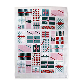 Coast and Cotton Holiday Presents Hand Towel
