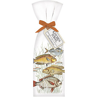 mary lake-thompson school of fish towel set