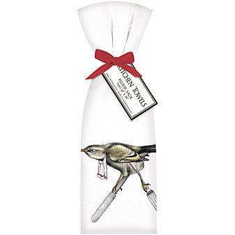 mary lake-thompson bird silverware towel set