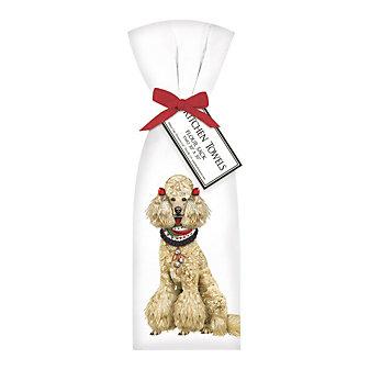 mary lake-thompson holiday poodle towel set