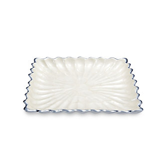Julia Knight Snow Square Peony Tray