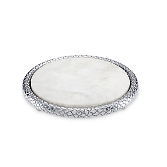 Julia Knight Florentine Silver Marble Cheese Tray