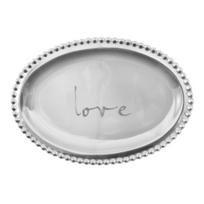 """Mariposa_""""love""""_Small_Oval_Tray"""