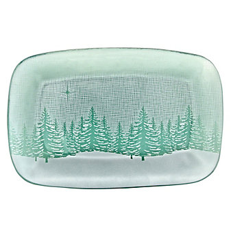 Annieglass Evergreen Small Appetizer Tray