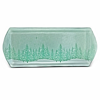 Annieglass Evergreen Party Tray