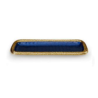 Julia Knight Gold Sapphire Florentine Rectangular Tray