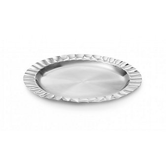 Mary Jurek Scalloped round tray 15""
