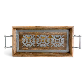 The GG Collection Heritage Wood Tray