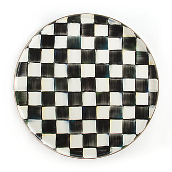 MacKenzie-Childs Courtly Check Round Tray