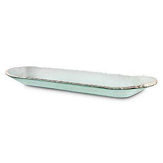 Annieglass Edgey XL Baguette Tray, Platinum