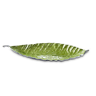 Julia Knight Mojito Banyan Leaf Tray, 20""