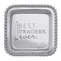 Mariposa_Best_Teacher_Ever_Square_Tray