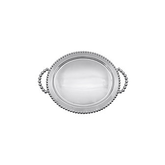 Mariposa Pearled Oval Service Tray