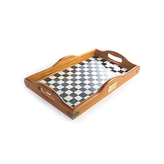 """MacKenzie Childs Courtly Check Large Hostess Tray, 12"""" wide, 20"""" long"""