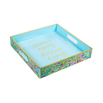 Lilly Pulitzer Lacquer Tray Island Time