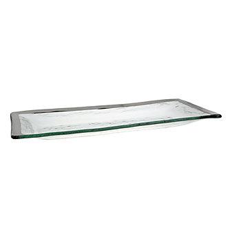 Annieglass Roman Antique Platinum Appetizer Tray