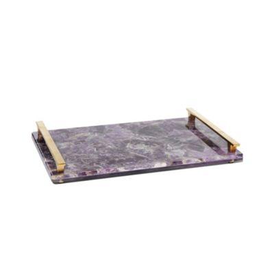 kendra scott amethyst stone slab tray
