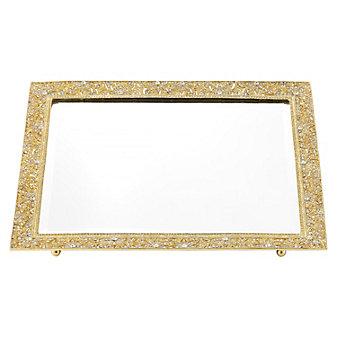 olivia riegel gold windsor beveled mirror tray