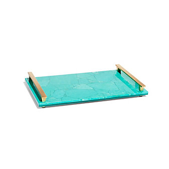 kendra scott large tray in variegated teal magnesite