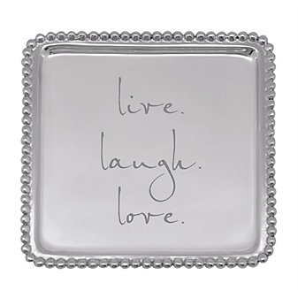 "mariposa ""live laugh love"" beaded cocktail tray"